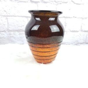 Other - Orange brown fall floral flower vase